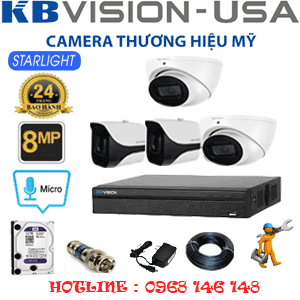 TRỌN BỘ 4 CAMERA KBVISON 8.0MP (KB-8213214)-KB-8213214