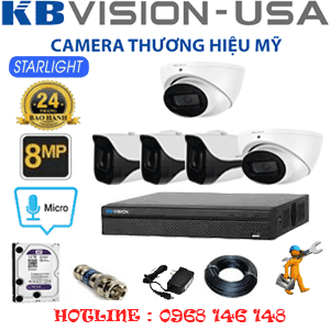 TRỌN BỘ 5 CAMERA KBVISON 8.0MP (KB-8213314)-KB-8213314