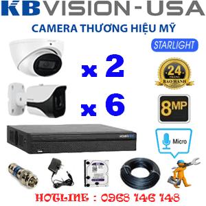 TRỌN BỘ 8 CAMERA KBVISON 8.0MP (KB-8213614)-KB-8213614
