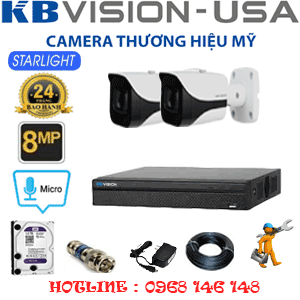 TRỌN BỘ 2 CAMERA KBVISON 8.0MP (KB-821400)-KB-821400