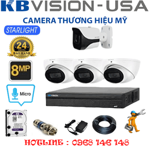 TRỌN BỘ 4 CAMERA KBVISON 8.0MP (KB-8313114)-KB-8313114