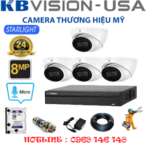 TRỌN BỘ 4 CAMERA KBVISON 8.0MP (KB-841300)-KB-841300
