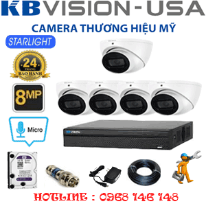 TRỌN BỘ 5 CAMERA KBVISON 8.0MP (KB-851300)-KB-851300