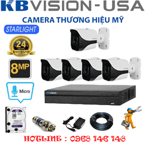 TRỌN BỘ 5 CAMERA KBVISON 8.0MP (KB-851400)-KB-851400