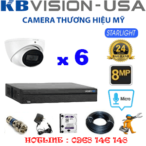TRỌN BỘ 6 CAMERA KBVISON 8.0MP (KB-861300)-KB-861300