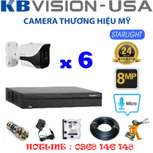 TRỌN BỘ 6 CAMERA KBVISON 8.0MP (KB-861400)-KB-861400