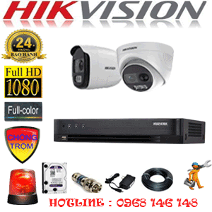 Lắp Đặt Trọn Bộ 2 Camera Hikvision 2.0Mp (Hik-2131132)-HIK-2131132