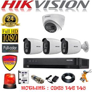 TRỌN BỘ 4 CAMERA HIKVISION 2.0MP (HIK-2131332)-HIK-2131332