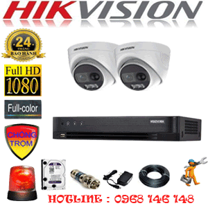 Lắp Đặt Trọn Bộ 2 Camera Hikvision 2.0Mp (Hik-223100)-HIK-223100