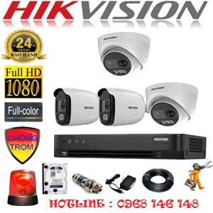 TRỌN BỘ 4 CAMERA HIKVISION 2.0MP (HIK-2231232)-HIK-2231232