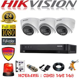 Lắp Đặt Trọn Bộ 3 Camera Hikvision 2.0Mp (Hik-233100)-HIK-233100