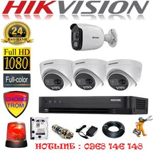 TRỌN BỘ 4 CAMERA HIKVISION 2.0MP (HIK-2331132)-HIK-2331132