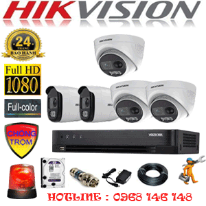 Lắp Đặt Trọn Bộ 5 Camera Hikvision 2.0Mp (Hik-2331232)-HIK-2331232