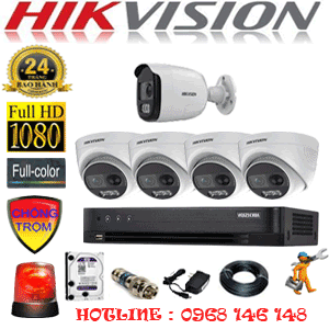 Lắp Đặt Trọn Bộ 5 Camera Hikvision 2.0Mp (Hik-2431132)-HIK-2431132