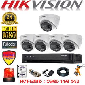Lắp Đặt Trọn Bộ 5 Camera Hikvision 2.0Mp (Hik-253100)-HIK-253100