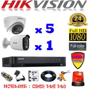 Lắp Đặt Trọn Bộ 6 Camera Hikvision 2.0Mp (Hik-2531132)-Hik-2531132