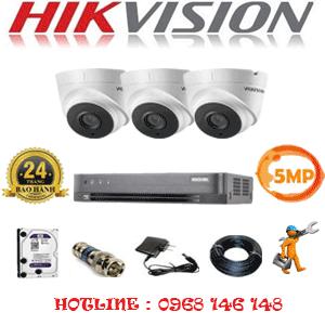 Trọn Bộ 3 Camera Hikvision 5.0Mp (Hik-533300)-HIK-533300