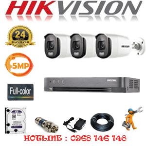 Trọn Bộ 3 Camera Hikvision 5.0Mp (Hik-533600)-HIK-533600
