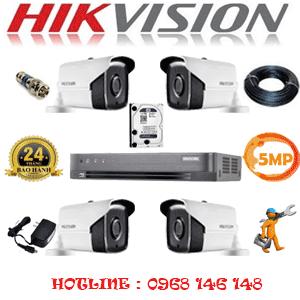 Lắp Đặt Trọn Bộ 4 Camera Hikvision 5.0Mp (Hik-543400)-HIK-543400
