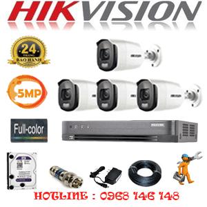 TRỌN BỘ 4 CAMERA HIKVISION 5.0MP (HIK-543600)-HIK-543600