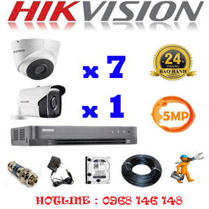 Lắp Đặt Trọn Bộ 8 Camera Hikvision 5.0Mp (Hik-5733134)-HIK-5733134