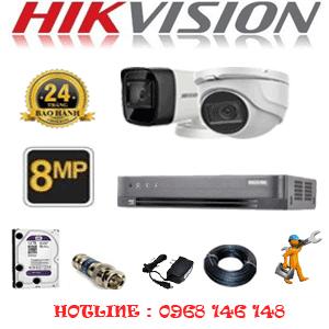Lắp Đặt Trọn Bộ 2 Camera Hikvision 8.0Mp (Hik-8129130)-HIK-8129130