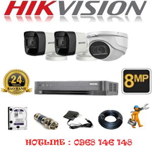 Trọn Bộ 3 Camera Hikvision 8.0Mp (Hik-8129230)-HIK-8129230