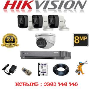 Lắp Đặt Trọn Bộ 4 Camera Hikvision 8.0Mp (Hik-8129330)-HIK-8129330
