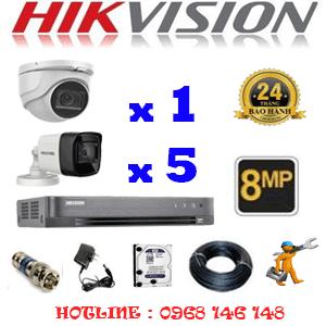 Lắp Đặt Trọn Bộ 6 Camera Hikvision 8.0Mp (Hik-8129530)-HIK-8129530