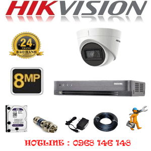 Lắp Đặt Trọn Bộ 1 Camera Hikvision 8.0Mp (Hik-813700)-HIK-813700