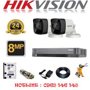 Lắp Đặt Trọn Bộ 2 Camera Hikvision 8.0Mp (Hik-823000)-HIK-823000