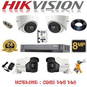 Lắp Đặt Trọn Bộ 4 Camera Hikvision 8.0Mp (Hik-8237238)-HIK-8237238