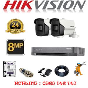 Lắp Đặt Trọn Bộ 2 Camera Hikvision 8.0Mp (Hik-823800)-HIK-823800