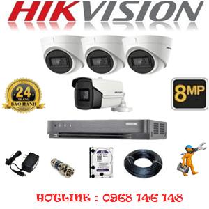 Lắp Đặt Trọn Bộ 4 Camera Hikvision 8.0Mp (Hik-8337138)-HIK-8337138
