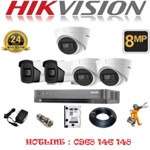 Lắp Đặt Trọn Bộ 5 Camera Hikvision 8.0Mp (Hik-8337238)-HIK-8337238