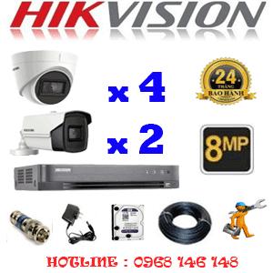 Lắp Đặt Trọn Bộ 6 Camera Hikvision 8.0Mp (Hik-8437238)-HIK-8437238