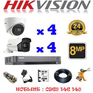 Lắp Đặt Trọn Bộ 8 Camera Hikvision 8.0Mp (Hik-8437438)-HIK-8437438