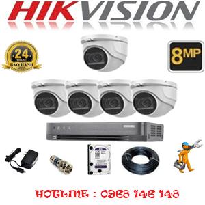 Lắp Đặt Trọn Bộ 5 Camera Hikvision 8.0Mp (Hik-852900)-HIK-852900