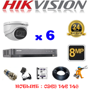 Lắp Đặt Trọn Bộ 6 Camera Hikvision 8.0Mp (Hik-862900)-HIK-862900