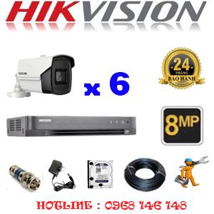 Lắp Đặt Trọn Bộ 6 Camera Hikvision 8.0Mp (Hik-863800)-HIK-863800