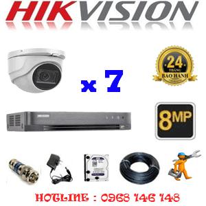 Lắp Đặt Trọn Bộ 7 Camera Hikvision 8.0Mp (Hik-872900)-HIK-872900
