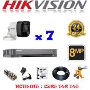 Lắp Đặt Trọn Bộ 7 Camera Hikvision 8.0Mp (Hik-873000)-HIK-873000