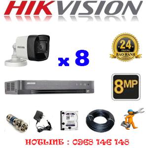 Lắp Đặt Trọn Bộ 8 Camera Hikvision 8.0Mp (Hik-883000)-HIK-883000