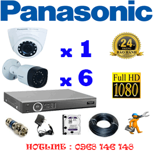 Lắp Đặt Trọn Bộ 7 Camera Panasonic 2.0Mp (Pan-21364)-PAN-21364