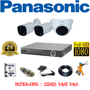 Lắp Đặt Trọn Bộ 3 Camera Panasonic 2.0Mp (Pan-21526)-PAN-21526