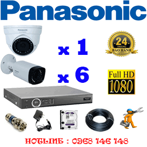 Lắp Đặt Trọn Bộ 7 Camera Panasonic 2.0Mp (Pan-21566)-PAN-21566