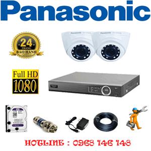 Lắp Đặt Trọn Bộ 2 Camera Panasonic 2.0Mp (Pan-22300)-PAN-22300