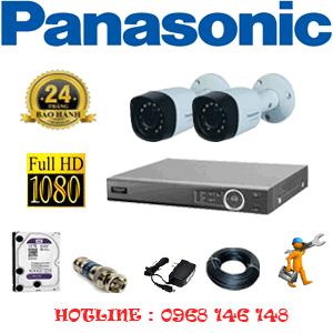 Lắp Đặt Trọn Bộ 2 Camera Panasonic 2.0Mp (Pan-22400)-PAN-22400