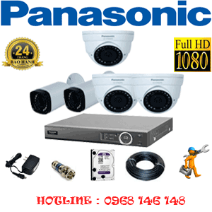 Lắp Đặt Trọn Bộ 5 Camera Panasonic 2.0Mp (Pan-23526)-PAN-23526