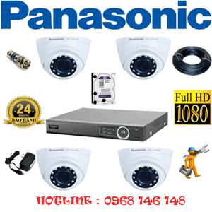 Lắp Đặt Trọn Bộ 4 Camera Panasonic 2.0Mp (Pan-24300)-PAN-24300